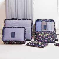 Women Men Thick Waterproof 7-piecel Travel Storage Bag
