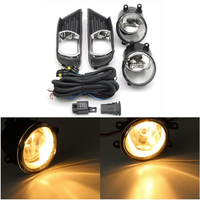 Pair H11 Front Bumper Clear Fog Lights with Wiring Harness Switch Lamp Covers For Toyota Camry 07-09