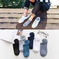 Men Cotton Thin Breathable Elastic Boat Socks