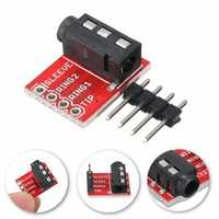 5pcs 3.5mm Plug Jack Stereo TRRS Headset Audio Socket Breakout Board Extension Module