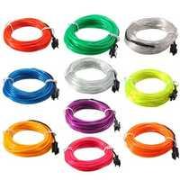 5M EL Led Flexible Soft Tube Wire Neon Glow Car Rope Strip Light Xmas Decor DC 12V