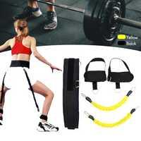6pcs Resistance Bands Belt System Set Exercise Workout Fitness Yoga Tools Spring Exerciser Pull Rope