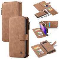 Caseme Magnetic Detachable Zipper Wallet Card Slot Protective Case For Samsung Galaxy S10/S10 Plus
