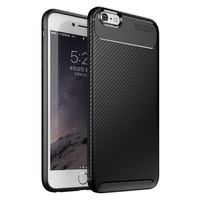 Bakeey Protective Case For iPhone 6/6s Slim Carbon Fiber Fingerprint Resistant Soft TPU Back Cover