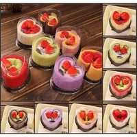 Heart Shape Cake Microfiber Absorbent Towel Festival Valentine Weeding Gift Party Decor