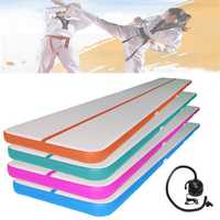 196x39x3.93inch Airtrack Gymnastics Mat Inflatable GYM Air Track Mat Practice Training Tumbling Pad With Pump
