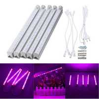5PCS 30CM SMD5730 LED Grow Bar Rigid Strip Light Hydroponic Indoor Veg Flower Plant Lamp Kit