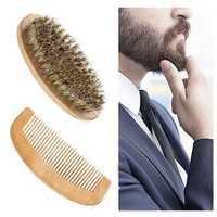 Beard Brush Comb Kit Facial Mustache Shaving Natural