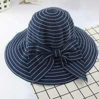 Women Summer Sun Protection Floppy Hat Outdoor Flat Bill Hat