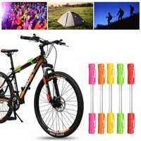 BIKIGHT Colorful Bike Light LED Safety Warning Signal Light 3 Battery Camping Night Lamp