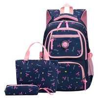 3 Pcs School Bag Shoulder Backpack Nylon Cross body Bags Camping Travel Handbag Pen Case