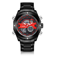 NAVIFORCE NF9088 Fashion Men Dual Display Watch Luxury Stainless Strap Sport Watch
