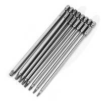 Broppe 8pcs T9-T40 150mm Magnetic Torx Screwdriver Bits 1/4 Inch Hex Shank