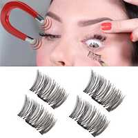 Reusable Magnetic Eyelashes Ultra Thin Black Thicker 3D Magnet False Lash Light Weight Makeup