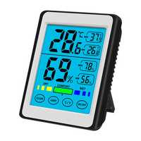 High Precision Backlight Touch- Electronic Digital Display Temperature Hygrometer LCD Weather Station New
