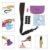 LADE 5 IN 1 Saxophone Accessories SeT-strap Cork Grease Mouthpiece Cushions Cleaning Cloth
