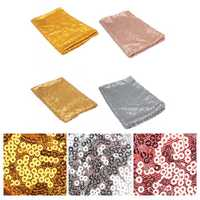 51''x20'' Gold Rose Sparkly Sequin Tablecloth Cover Banquet Wedding Party Decor