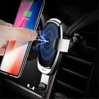 Rock Upgraded 10W 7.5W 5W Intelligent Qi Wireless Fast Charge Auto Lock Car Holder for Mobile Phone