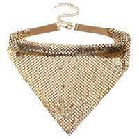 Trendy Sparkling Paillette Noble Collar Clavicle Necklace