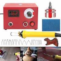 50W 220V Digital Multifunction Pyrography Machine + 1pc Wood Burning Pen