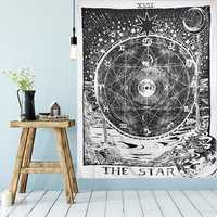 210cm Sun Star Moon Tarot Tapestry Hippie Wall Hanging Blanket Room Home Decor