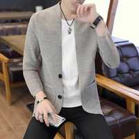 Men's Casual Pure Color Knitting Cardigans