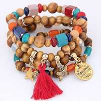Retro Mix Color Beaded Bracelet