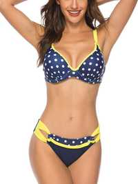 Gathers Push Up Bikini Spot Ladies Swimwear
