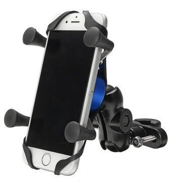 4 6 inch X type Phone GPS Aluminum Alloy Holder Handlebar Rear View Mirror E Scooters Motorcycle Bike