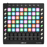 WORLDE ORCA PAD48 Portable MIDI Controller 48 Drum Pads with USB Cable