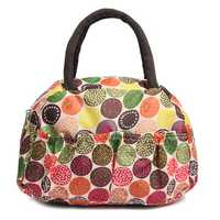 Women Ladies Vintage Lunch Picnic Bag Lunch Totes Handbag