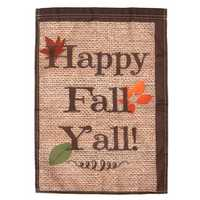 18''x12.5'' Happy Fall Yall Autumn Polyester House Holiday Decorations Garden Flag