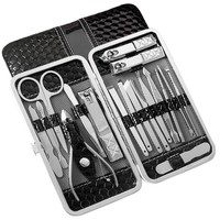 Y.F.M® 18pcs Stainless Steel Nail Clippers Set Pedicure Tool