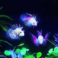 Glow In The Dark Artificial Aquarium Lionfish Ornament Fish Tank Jellyfish Decorations