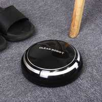 Black/White Smart Cleaning Robot Vacuum Cleaner USB Recharge Automatic Floor Dust Sweeper