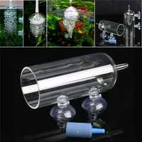 Aquarium Glass CO2 Diffuser Bubble Air Stone Purge Oxygen Aeration Diffuse Atomizer Tools
