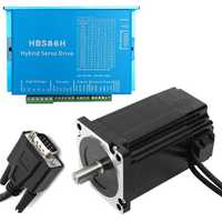 CNC HSS86 Hybrid Driver with Closed Loop Servo Stepper Motor 8.5N.m