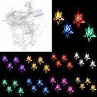 Multi 3.5M 100SMD Five-Pointed Star LED String Curtain Lights Xmas Wedding Decor 110V