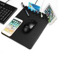 4 In 1 Qi Wireless Charging Charger Anti Skid Storage Phone Holder Mouse Pad