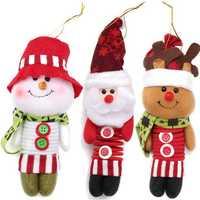 20CM Spring Leg Swing Christmas Doll Santa Claus Christmas Ornaments