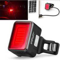 infun F50 50LM Automatic Brake Induction 180° Floodlight Taillight 45g 4 Modes IPX5 Waterproof USB Rechargeable