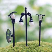 Mini Street Lamp Moss DIY Micro Landscape Decoration Garden Flower Pot Landscaping