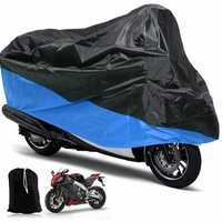 Motorcycle Rain UV Dust Cover Dust Bike Protector XL Blue Black