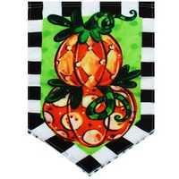 12.5''x18'' Garden Flag Tom's Pumpkin Topiary Autumn Holiday Fall Yard Banner Decorations