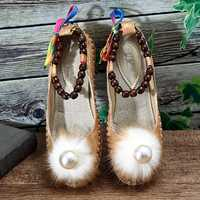 Women Beading Colorful Flats Loafers