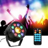 15W 10 LED Strobe Par Lamp RGB Yellow DMX Sound Remote Control Stage Light for DJ Party AC90-240V