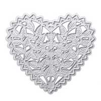 Heart Shape Metal Cutting Dies DIY Album Frame Scrapbook Maker Stencils Embossing Card DIY