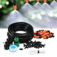 Garden Patio Plants Watering Irrigation Drip Kit 15m Tubing Hose 20 Nozzle Mist Dripper Accessories
