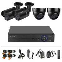 TVI 4 Route 720P Million HD Surveillance Infrared Set 36 Light IP66 With 4 Video Power Lines