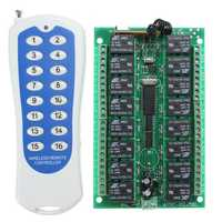 DC 24V 16CH Channel Wireless RF Remote Control Switch With Transmitter For Smart Home